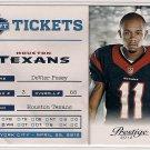 2012 Prestige NFL Tickets DeVier Posey Rookie
