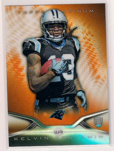 2014 Topps Platinum Orange Kelvin Benjamin Rookie