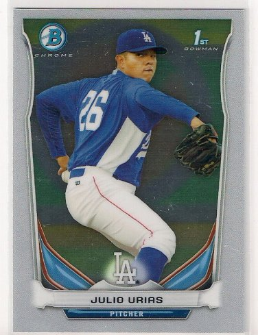 2014 Bowman Chrome Prospects Julio Urias