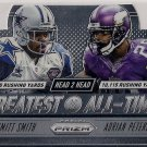 2014 Panini Prizm Greatest All-Time Emmitt Smith & Adrian Peterson