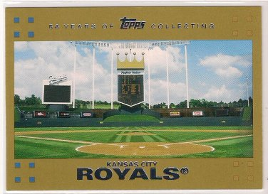 2007 Topps Gold Kansas City Royals 0155/2007