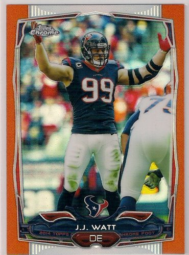 2014 Topps Chrome Orange Refractor J. J. Watt
