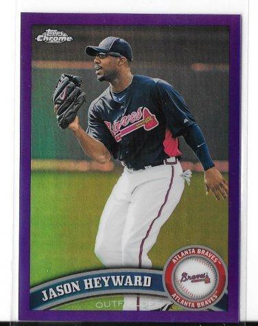 2011 Topps Chrome Purple Refractor Jason Heyward 204/499