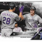2016 Topps Update Rookie Debut Trevor Story