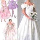 Vintage Wedding Dress Sewing Pattern Bridal Bridesmaid Formal Evening Off Shoulder 8413 14