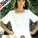 Peasant Blouse Top Sewing Pattern Vintage Lace Eyelet Renaissance Square Neck 5995 14