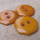 Large Bakelite Button Lot Butterscotch Octagon Coat Jacket Crafts Vintage Thich Carved Jewelry