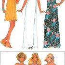 One Piece Swimsuit Sewing Pattern Wrap Dress Sarong Cover Up Bathing Suit Vintage 70s 5542 12