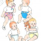 Diapers And Cover Sewing Pattern 90's Kwik Sew Easy Baby Toddler Boy Girl Designs 2062