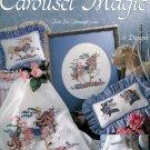 Carousel Horse Cross Stitch Designs Projects Patterns Needlecraft Nursery Blanket Pillow Wall Art