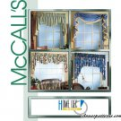 Easy Window Toppers Sewing Pattern Cascade Valance Rosettes Double Swag Regal 3089