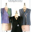 Vest Sewing Pattern Button Front Lapel Princess Seams 6 Designs Easy Indygo