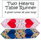 Patchwork Table Runner Sewing Pattern Quilted Heart Country Home Lodge Pieced Tree