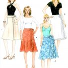 Easy Wrap Skirt Sewing Pattern Fast A-line Flounce Trendy Retro Boho 5430 6-12