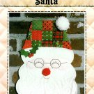 Santa Sewing Pattern Wall Door Hanging Patchwork Applique Christmas Holiday Project Handcrafted