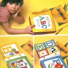 Childs Toddler Cloth Book Sewing Pattern ABC's Alphabet Learning Early Development 7524 Vintage