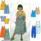 Girls Toddler Jumper Jumpsuit Dress Sewing Pattern Top Romper Shoulder Ties Kimono Sleeves 8048 3-6