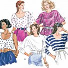 Vintage Sewing Pattern Easy Pullover Tops Cami Wing Sleeves Kimono Mod Hipster 3198 6-22