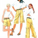 Cargo Shorts Pants Capri Sewing Pattern Easy Summer Hiking Trendy Patch Pocket Belted 5633 4-10