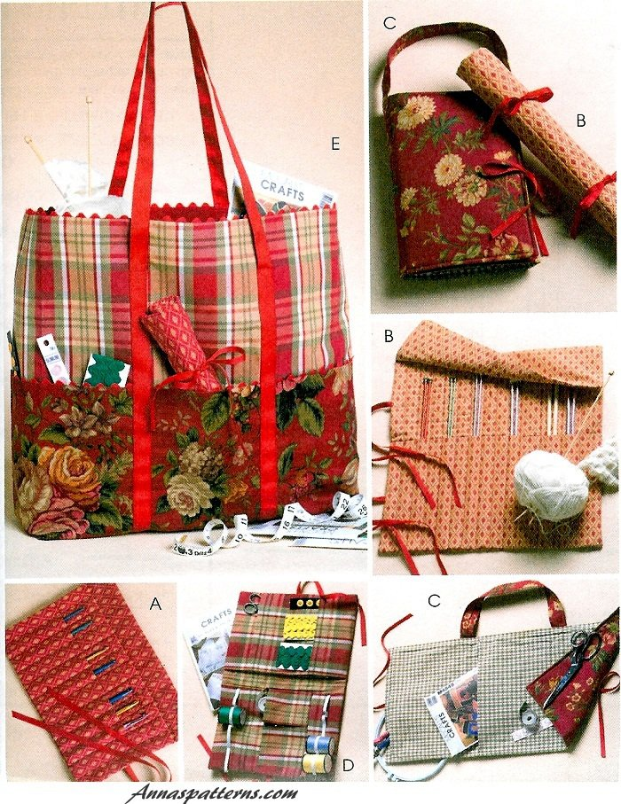 Crochet Craft Bag : Craft Totes Sewing Pattern Organizers Crochet Knitting Diaper Bag 4728