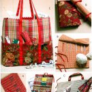 Craft Totes Sewing Pattern Organizers Crochet Knitting Diaper Bag 4728