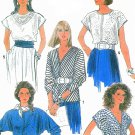 Easy Tops Sewing Pattern Vintage Disco Dolman Wing Sleeves Long Short 80s 8436 10-14