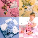 Baby Patchwork Blanket Sewing Pattern Chenille Boy Girl Nursery Quilt Throw Duck Puppy Lamb 5642