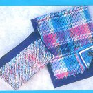 Easy Wallet Purse Sewing Pattern Chenille Zipper Cosmetic Bag Pen Pencil