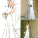 Wedding Dress Sewing Pattern Bridal Gown Strapless Halter Shrug Elegant Fitted Lace Sexy 4776 12-18