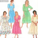 Simplicity Vintage Sewing Pattern Dress Fitted Bodice Full Skirt Square Sweetheart Neck 7000 10-18