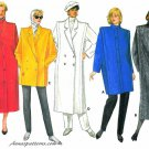 Double Breasted Coat Sewing Pattern Broad Shoulder Long Short Vintage Lined Annie Lennox 14 -18 4044