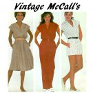 McCalls Vintage Sewing Pattern Jumpsuit Dress Short Long Retro Mod 80's 6 8 10 7531