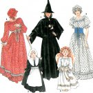 Simplicity Costume Sewing Pattern Witch Prairie Maiden Pilgrim Angel Child 2-12 9809