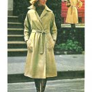 Misses Trench Coat Sewing Pattern Reversible Wrap Rain Jacket A-line Below Knee Vintage 3915 10