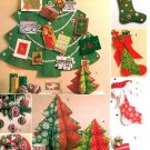 Christmas Decorations Sewing Pattern Card Holder Stockings Ornaments Handcrafted Holiday Craft 5778