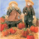 Scarecrow Sewing Pattern Dolls Display Fall Halloween Pumpkin Thanksgiving Decor 7808
