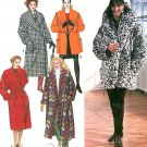 Misses Lined Coat Sewing Pattern 3 Lengths Wrap Shawl Collar Extended Shoulder Small XL Blanket 9860