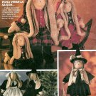 Rabbit Doll Costume Sewing Pattern Clothes Santa Christmas Winter Pilgrim Witch Handcrafted 5694