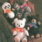 Plush Bears Sewing Pattern Koala Panda Teddy Polar Vintage 16 Inch Baby Child Toy Doll Easy 8537