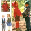 Child Pullover Jacket Top Sewing Pattern Boy Girl Hood Fleece Vest Skirt Pant Easy 9778 2 3 4