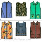 Girls Vest Sewing Pattern Easy Zip Button Front Fleece Flannel 3-6 9850 Fall Winter Clothing