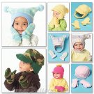 Infant Toddler Hats Sewing Pattern Mittens Fudd Cap Derby Ski Jester Fleece Easy 5253