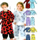 Children's Pajama Robe Sewing Pattern Boy Girl Top Pant Easy Sleepwear Long Sleeve 4 5 6 5222