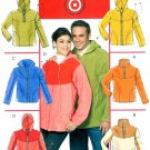 Easy Top Pullover Jackets Sewing Pattern Fleece Winter Outerwear Men Women Zipper Hood S M L 5538