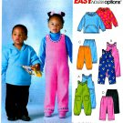 Toddler Fleece Pant Top Sewing Pattern Pullover Hoodie Jumpsuit Easy Boy Girl Warm 3 4 5 6 4644