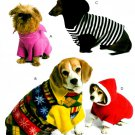 Dog Pet Jacket Sewing Pattern Sweater Clothing Coat Hoodie Pullover Easy XS S M Fleece 5544
