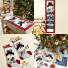 Snowman Holiday Decor Sewing Pattern Tree Skirt Stocking Runner Card Holder Christmas Winter 6454