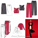 Yoga Pants Spa Jacket Sewing Pattern Workout Sports Bra Skirt Top Coat Bag Easy 4261 XS Medium