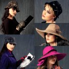 Womens Hat Glove Sewing Pattern Fedora Floppy Wide Brim Bucket Riding Cap Cloche 6664