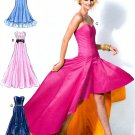 Evening Formal Dress Sewing Pattern Flounce Strapless Spaghetti Strap Ruffle Prom Bridal 6701 6 14